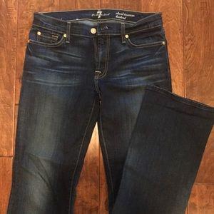 Dark denim bootcut jeans